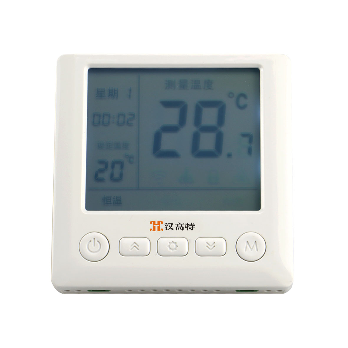 LCD intelligent thermostat